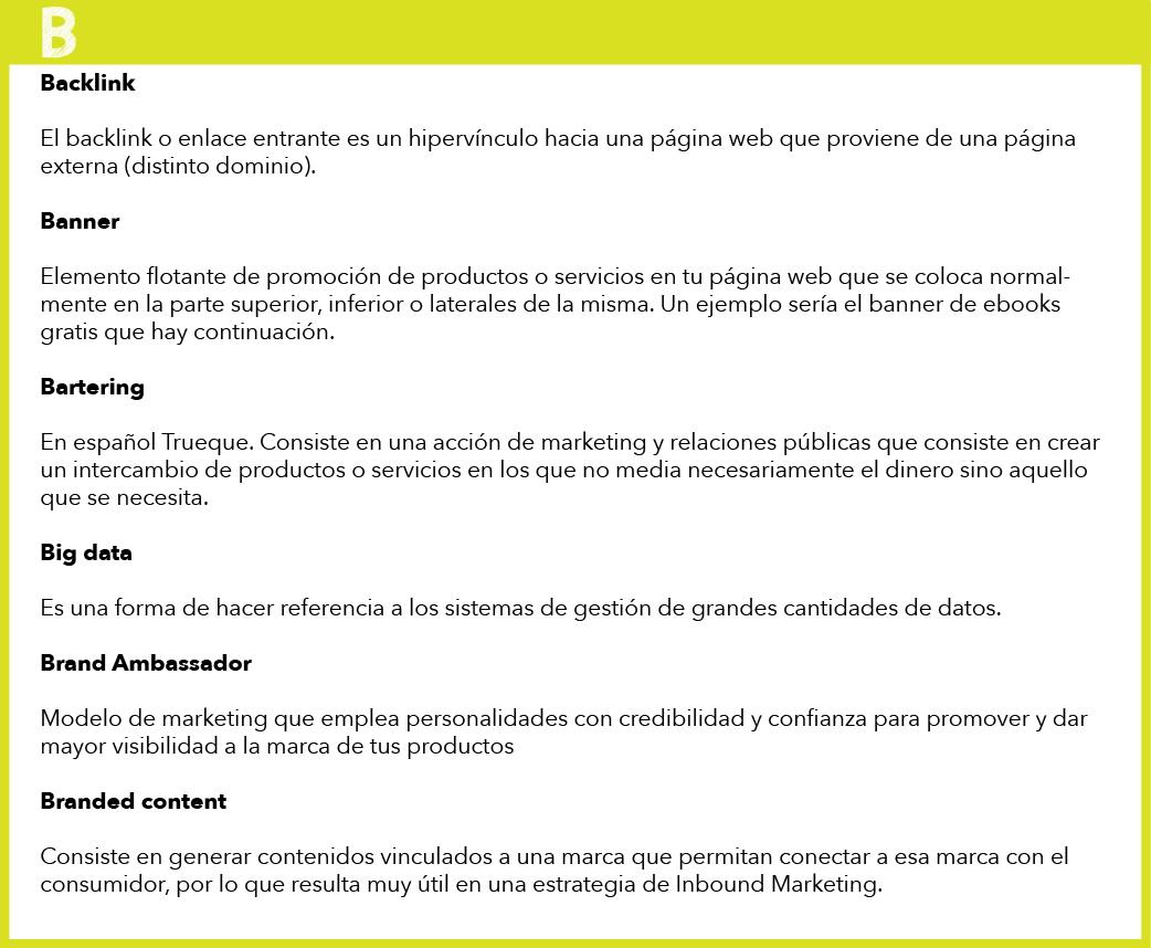 glosario de marketing: